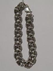 Королевская мантия 1,1 см.(серебряный браслет)