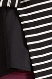 Джемпер для беременных 09795 черно-белая полоска