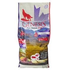 Genesis Pure Canada Green Highland Puppy для щенков, юниоров, беременных и кормящих взрослых собак всех пород с курицей, козой и ягненком 11.79 кг