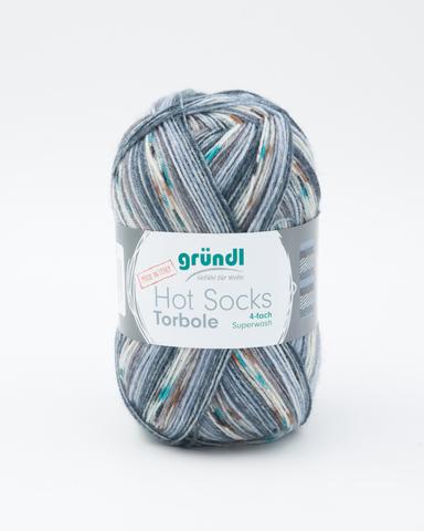 Носочная пряжа Gruendl Hot Socks Torbole 01 купить