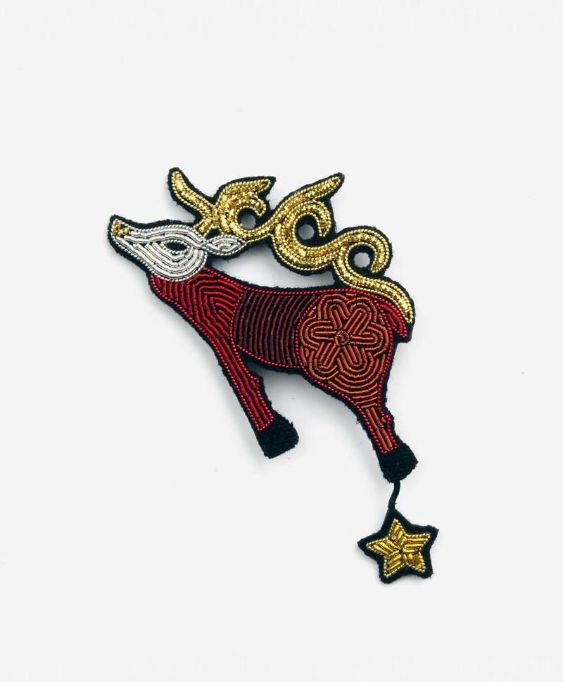 Брошь Folk Reindeer