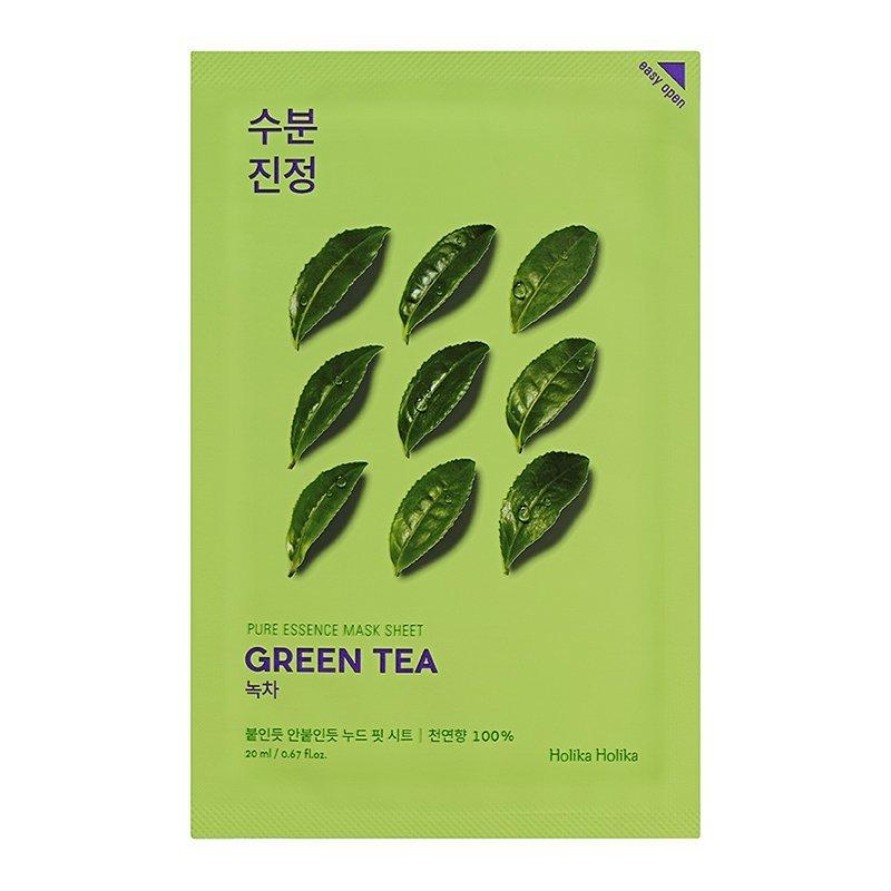 Тканевая маска противовоспалительная зеленый чай Holika Holika