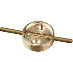 Плашка латунная со штоком диаметр 29 мм