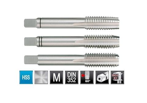 Метчик М14х2,0 (комплект 3шт) DIN352 6h HSS-G Ruko 230140