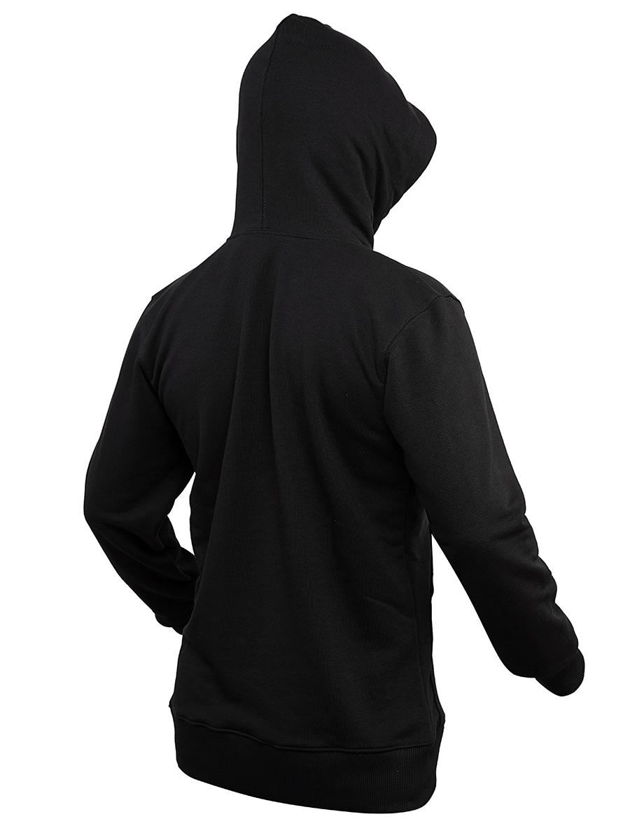 Худи Варгградъ ФАНТОМ мужская чёрная «Солнце» вышивка (б/н)