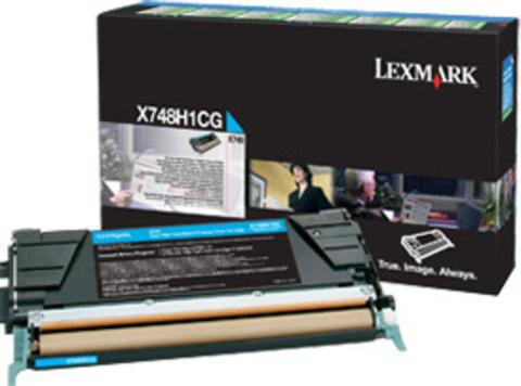 Картридж для принтеров Lexmark X746/X748 голубой большой ёмкости (cyan). (X748H1CG)