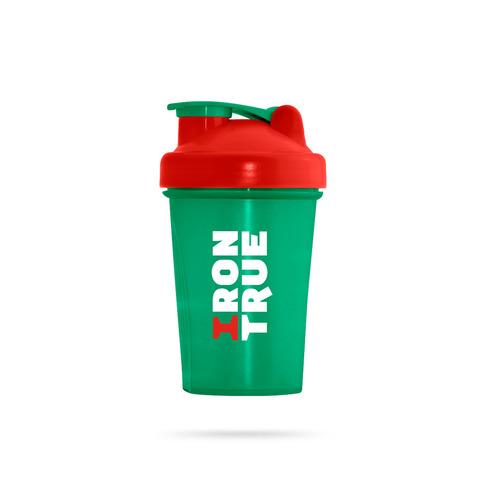 ITS901-400 Шейкер 400ml IRONTRUE Зеленый-Красный-Зеленый