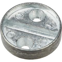 Плашка дюралевая на 1 печать диаметр 29 мм (2 штуки в упаковке)