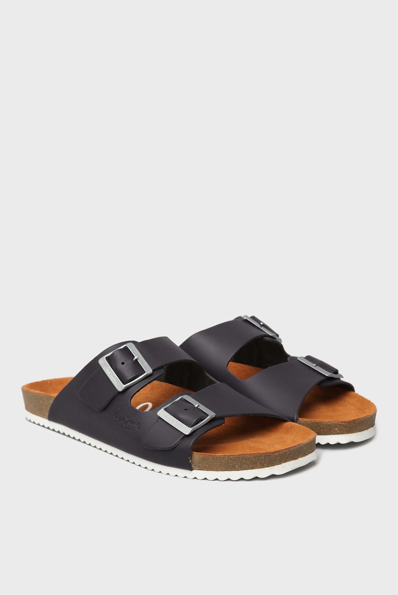 Мужские темно-синие слайдеры Pepe Jeans