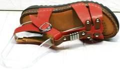 Красивые босоножки на платформе сандалии женские красные Rifellini Rovigo 375-1161 Rad.