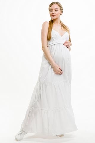 Платье для беременных 05948 белый