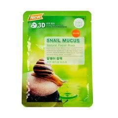 Тканевая маска для лица с муцином улитки - Snail Mucus, Belov