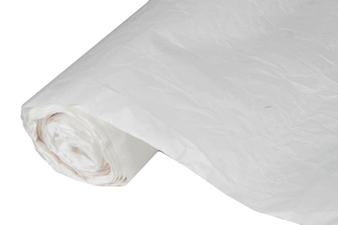 Бумага жатая эколюкс 70см х 5м белая/серебро 20S