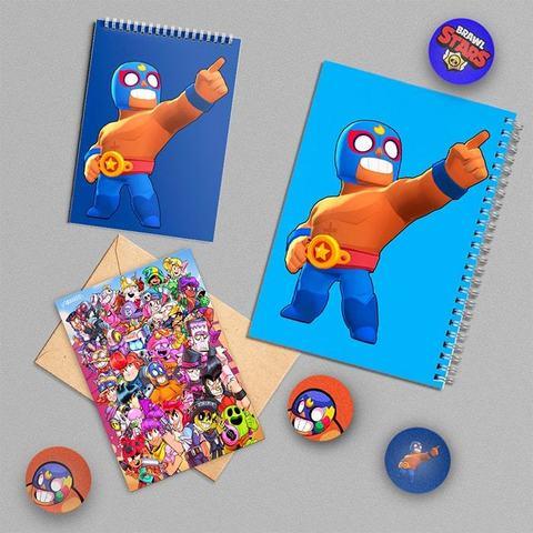 Эль Примо: набор из тетради, блокнота, открытки, 3 значков и стикера