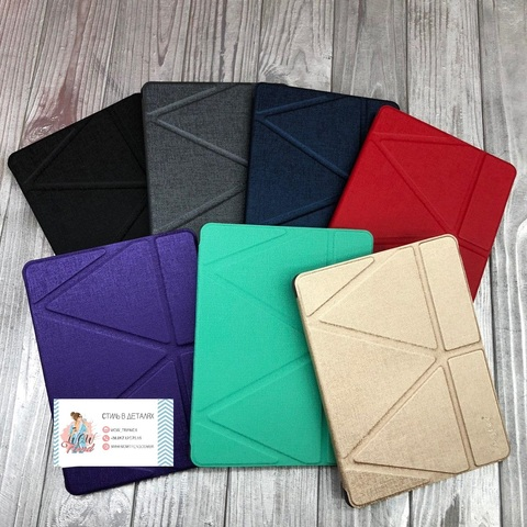 Чехол Origami Case iPad 9,7/Air 2/Air/2017' 18 leather embossing /gray/