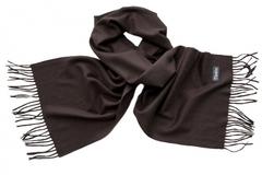 Шарф кашемировый коричневый 00800