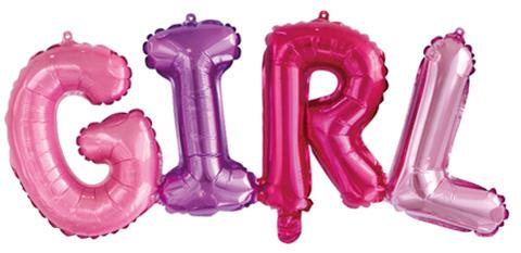 Фольгированная надпись GIRL розовая