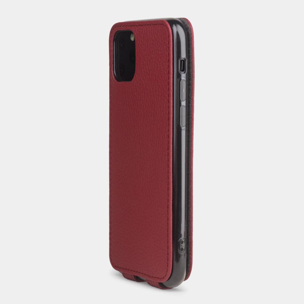 Чехол для iPhone 11 Pro из натуральной кожи теленка, вишневого цвета