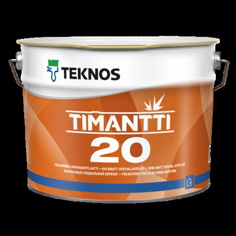 TEKNOS TIMANTTI 20/Текнос Тиманти 20 Полуматовая влагостойкая краска