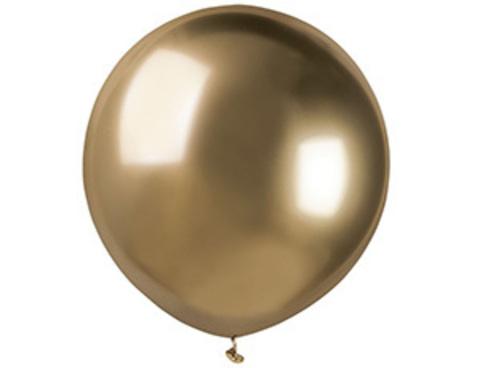 Воздушный шар Хром Золотой 45 см.