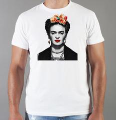 Футболка с принтом Фрида Кало (Frida Kahlo) белая 0021