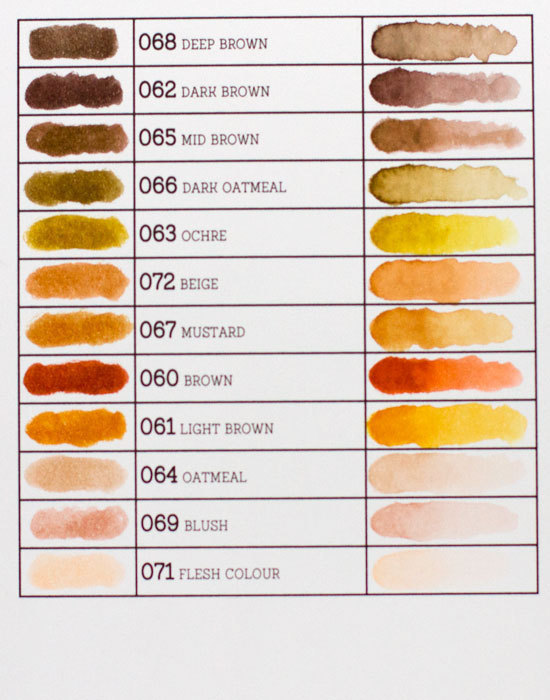 Маркер акварельный ZIG Clean Color Real Brush- штучно -Mid Brown - 065