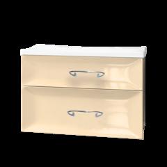Тумба с раковиной Marka One Delice 75П 2 ящика, vanilla