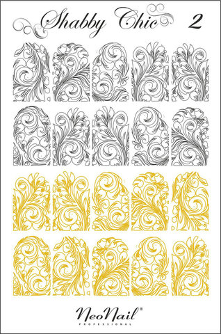 Трафарет для дизайна Shabby Chic 02 комбинированный