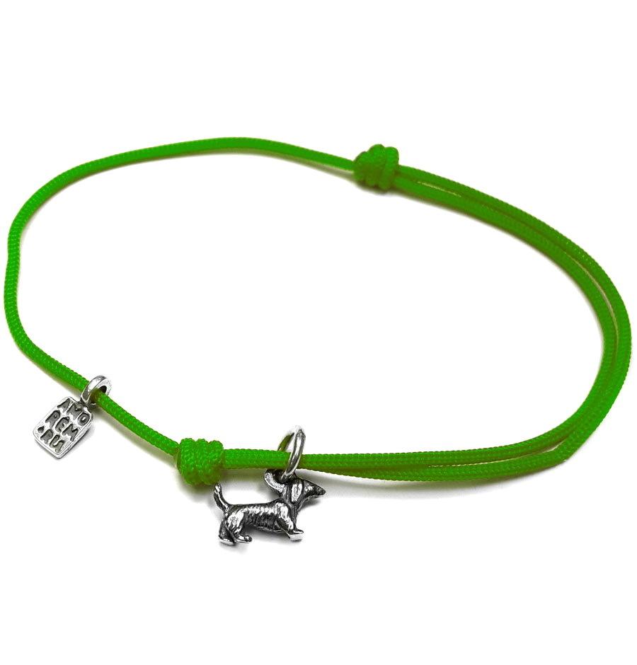 Dachshund bracelet, Sterling Silver