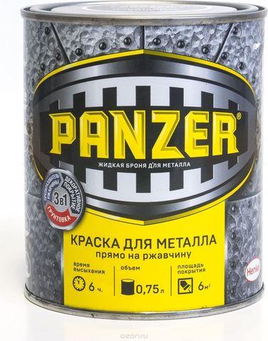 Краска Panzer гладкая для металла Белая, 0,25 л