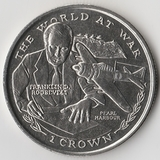 K8713, 1999, Гибралтар, 1 крона II мировая война Франклин Рузвельт Перл Харбор