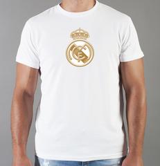 Футболка с принтом FC Real Madrid (ФК Реал Мадрид) белая 0012