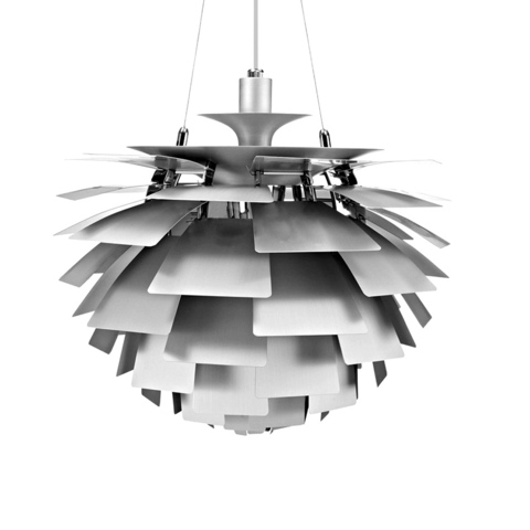 Подвесной светильник PH Artichok by Louis Poulse D60 (серебряный)