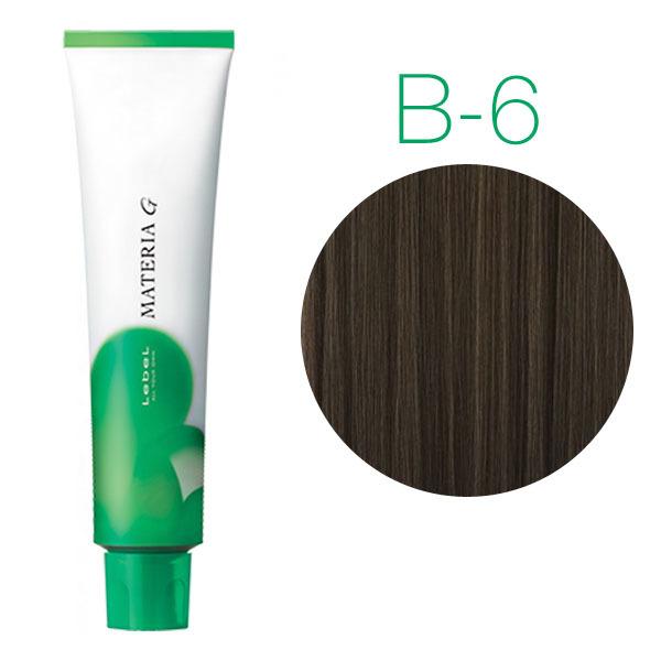 Lebel Materia Grey B-6 (темный блондин коричневый) - Перманентная краска для седых волос