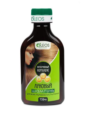 Шампунь Луковый с витаминным комплексом Oleos