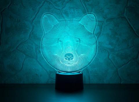 3D светильник Медведь