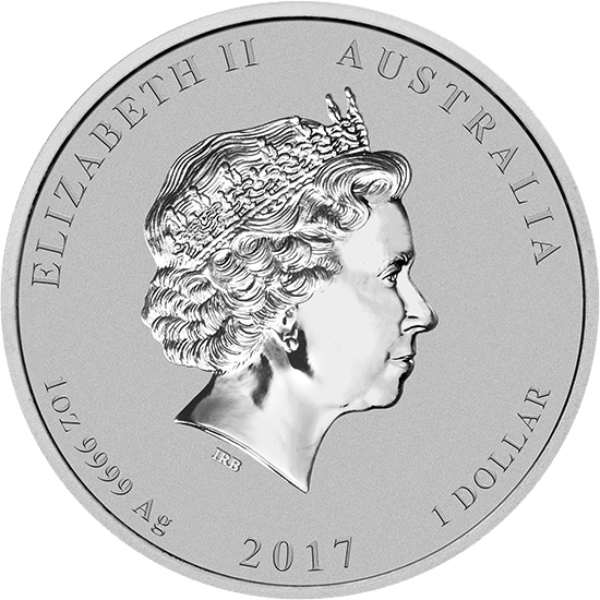 1 доллар. Год Петуха. Австралия. 2017 год (цветная)