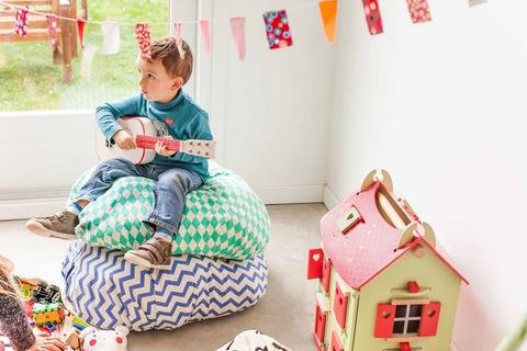 Коврик-мешок для игрушек Play&Go. Коллекция Print. Синий зигзаг
