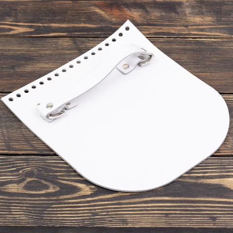 """Клапан для сумочки с ручкой кожаный """"Белый"""""""