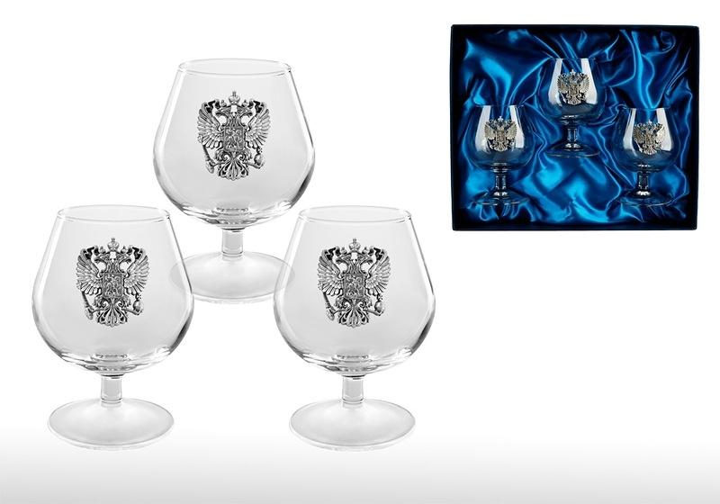 Подарочный набор бокалов для коньяка «Российский стандарт» набор бокалов для коньяка гусь хрустальный греческий узор