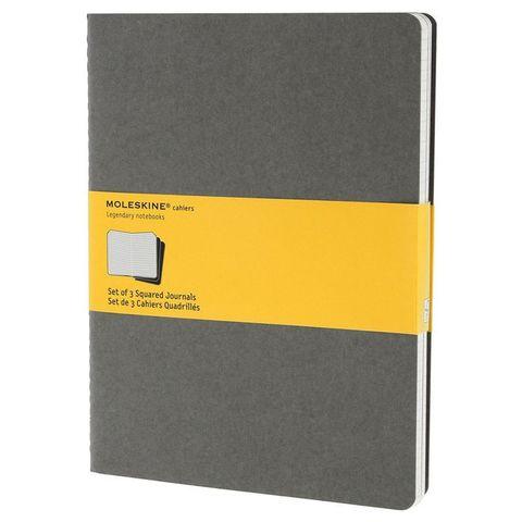 Блокнот Moleskine CAHIER JOURNAL CH322 XLarge 190х250мм обложка картон 120стр. клетка серый (3шт)