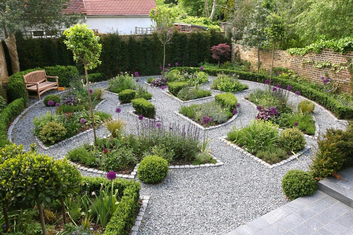 черноморская галька, засыпка сада