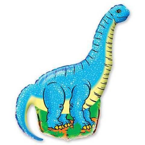 Фигура фольга Динозавр голубой