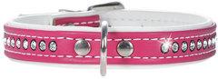 Ошейник для собак Hunter Smart Modern Art Luxus 32/11 (24-28,5 см) кожзам 1 ряд страз ярко-розовый