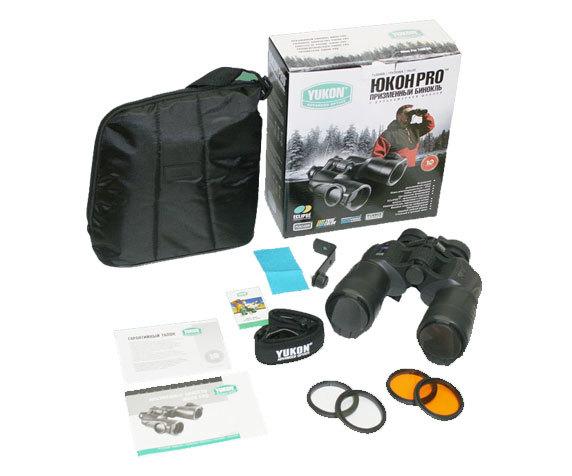 Комплект: бинокль Yukon Pro 7x50, светофильтры, ремень, салфетка