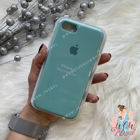 Чехол iPhone 7/8 Silicone Case /sea blue/ бирюза original quality