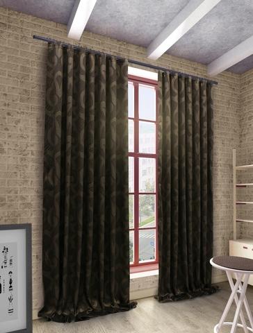 Готовые шторы Герда коричневый