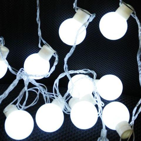 Шарики белые большие LED