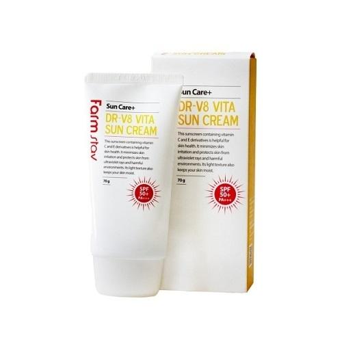 Солнцезащитный крем витаминизированный FarmStay Dr-V8 Vita Sun Cream Spf 50/pa+++