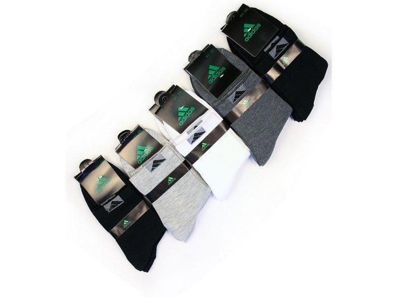 Носки мужские Adidas, комплект из 5 шт(черные, серые, белые)